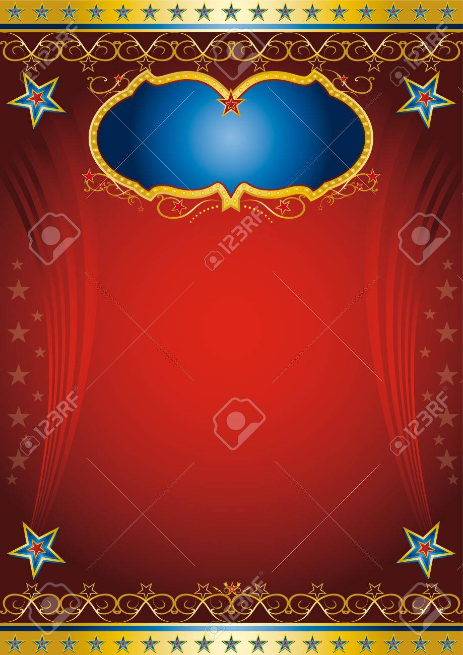Red entertainment poster Stock Vector - 16076755