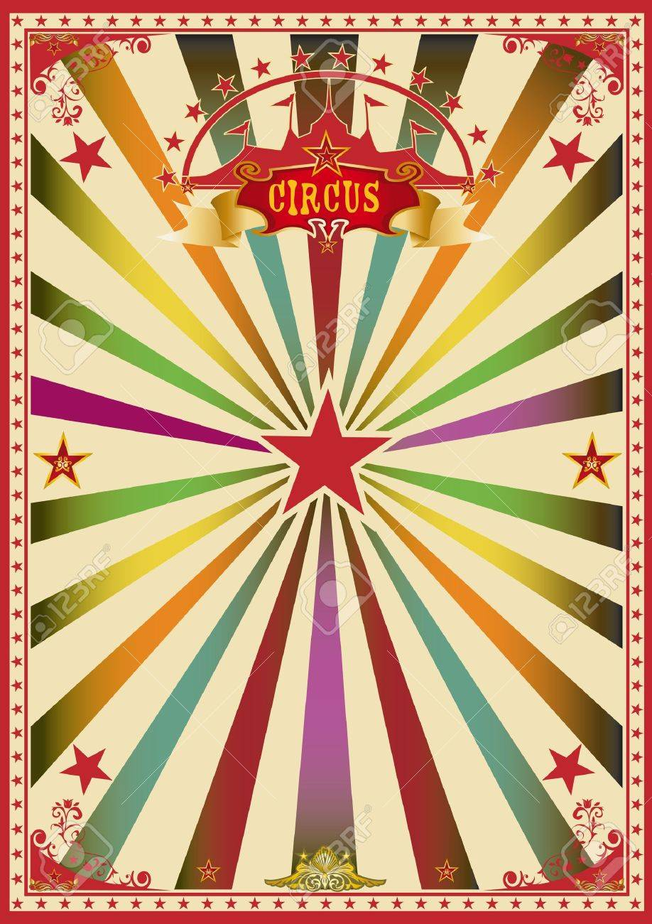 A Wonderful Circus Poster For A Big Party Royalty Free Cliparts ...