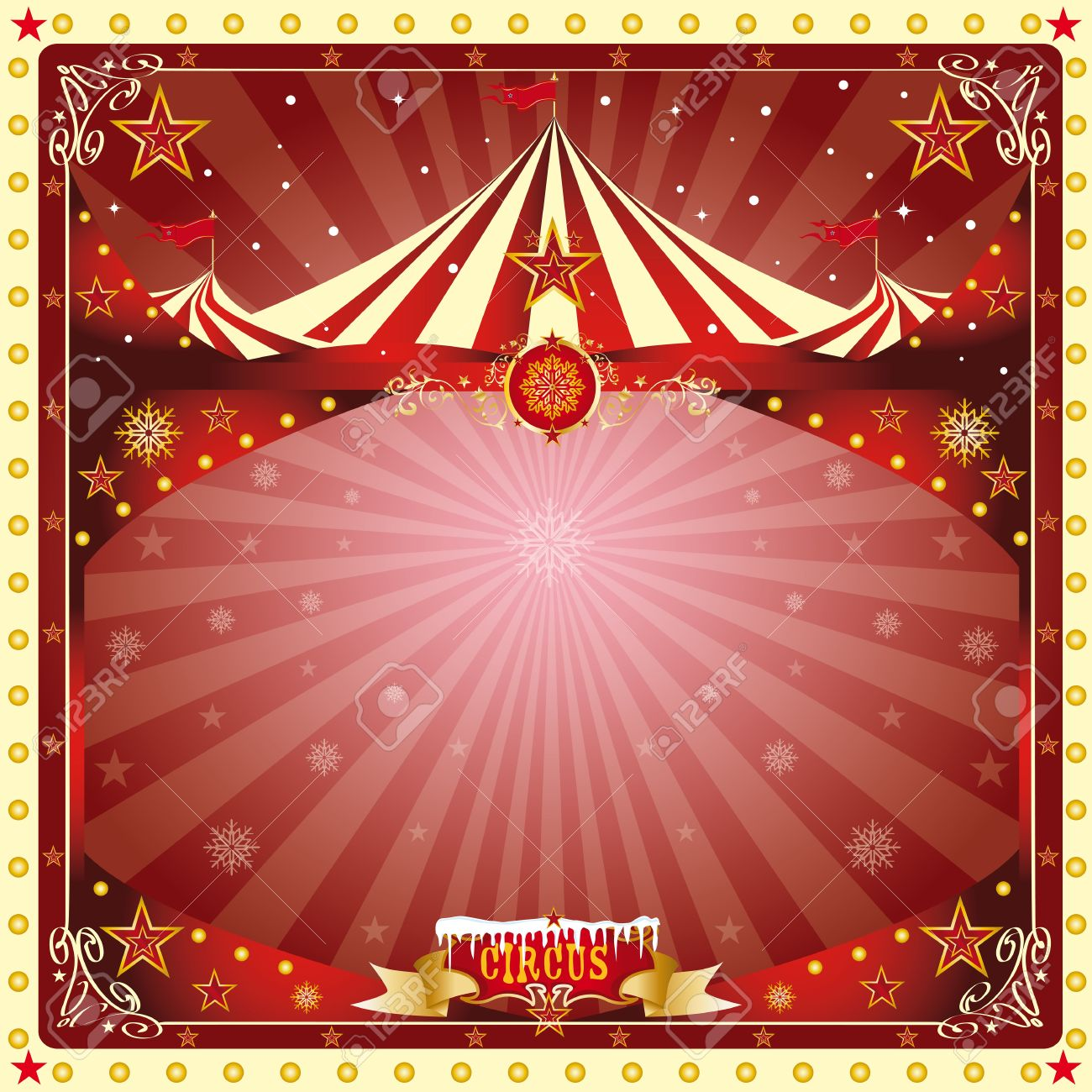 A circus christmas or Happy new year s card for you Stock Vector - 16863889