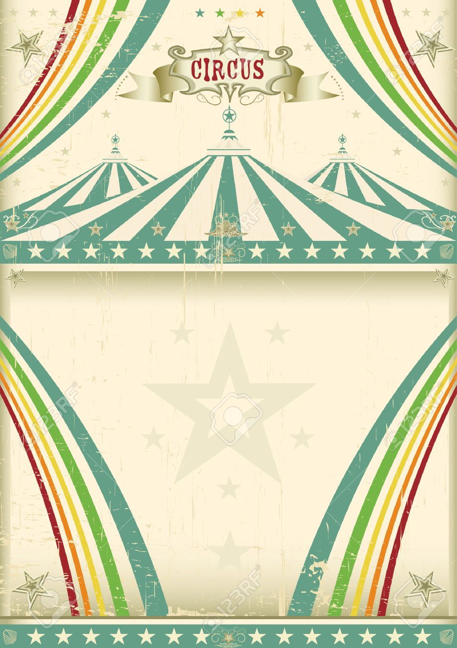 Vintage circus background Stock Vector - 17428888  sc 1 st  123RF.com & Vintage Circus Background Royalty Free Cliparts Vectors And ...