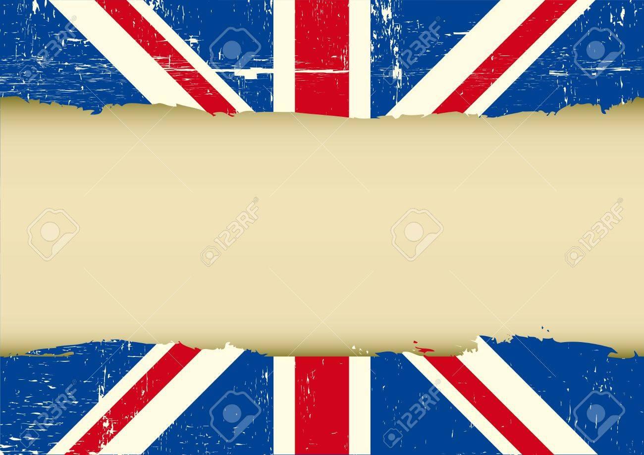 Horizontal Rahmen Auf Einem UK Grunge-Flag Für Ihren Text Lizenzfrei ...