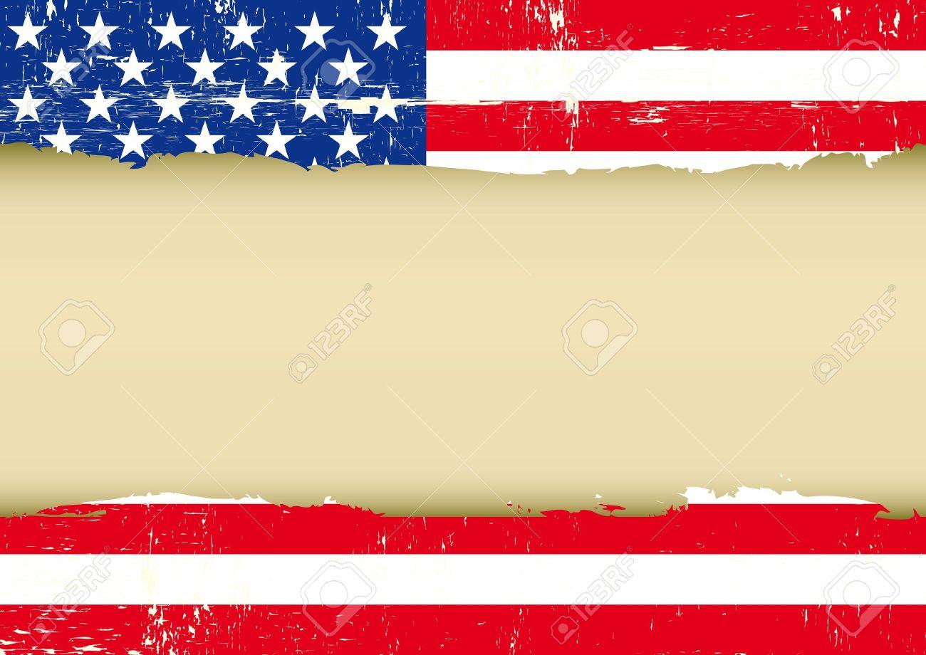 Eine Amerikanische Grunge-Flagge Mit Einem Rahmen Für Ihre Nachricht ...