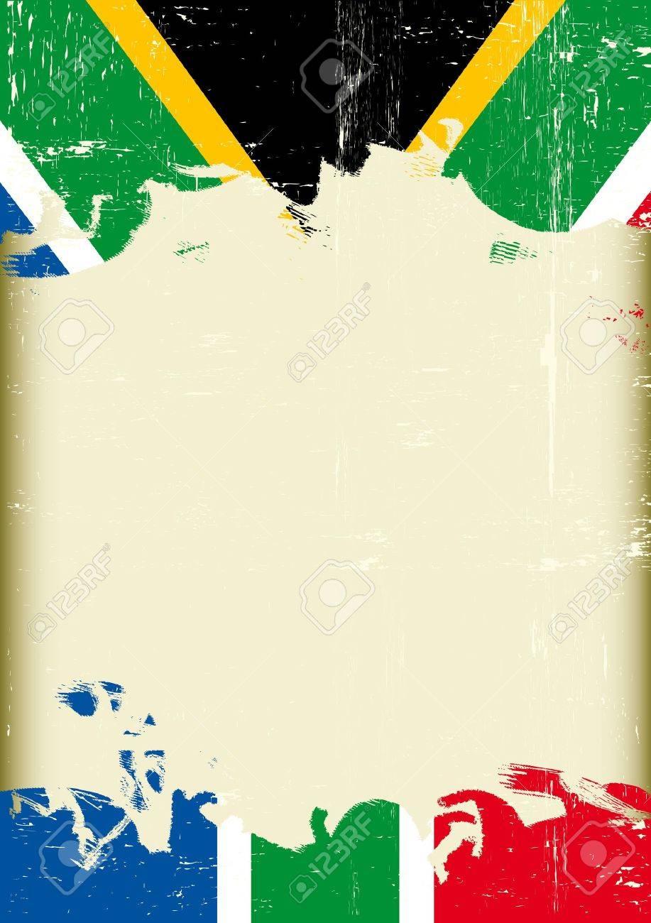 Ein Plakat Mit Einem Großen Zerkratzt Rahmen Und Einem Grunge ...