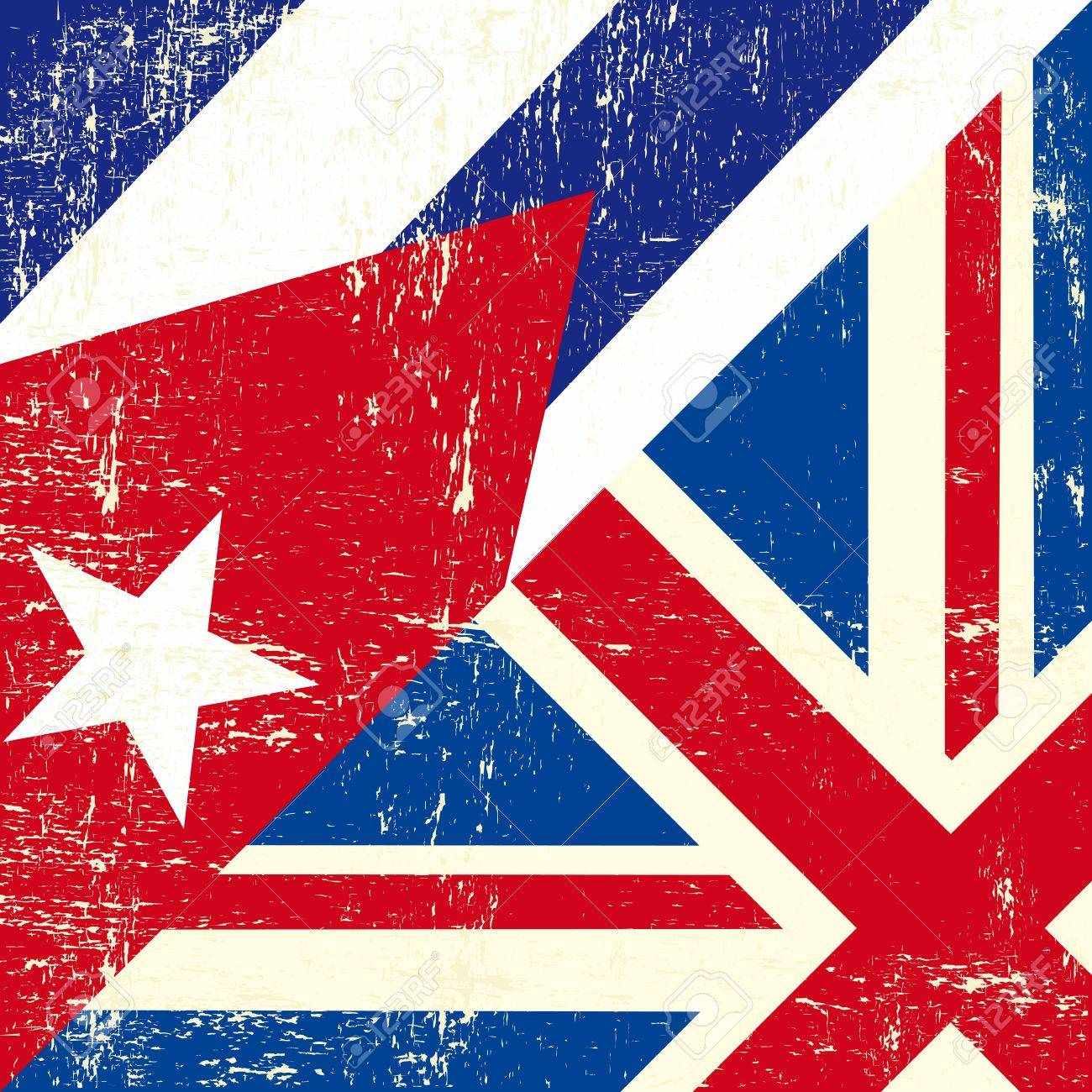 this flag represents the relationship between european UK and Cuba Stock Vector - 19350342