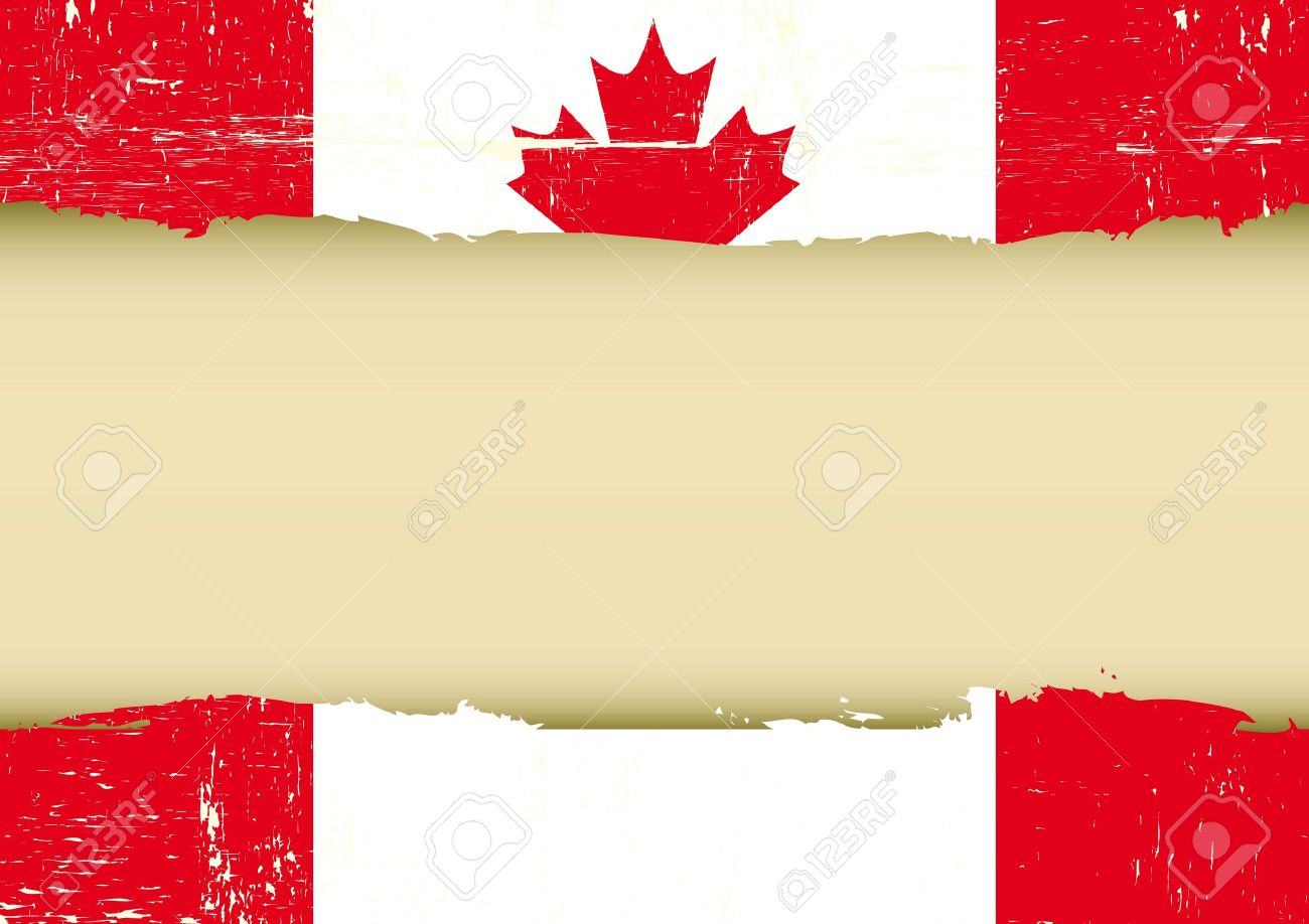 a canadian flag with a large frame for your message royalty free