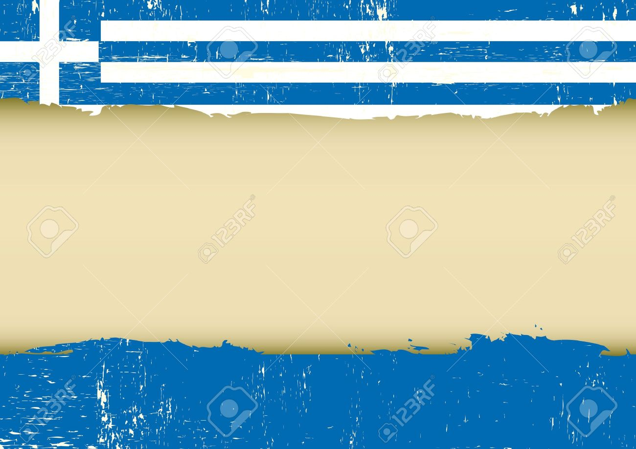 a greek flag with a large frame for your message stock vector 20007847