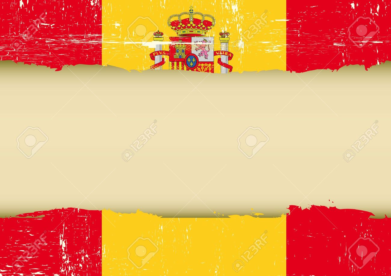 A spanish flag with a large frame for your message Stock Vector - 20007866