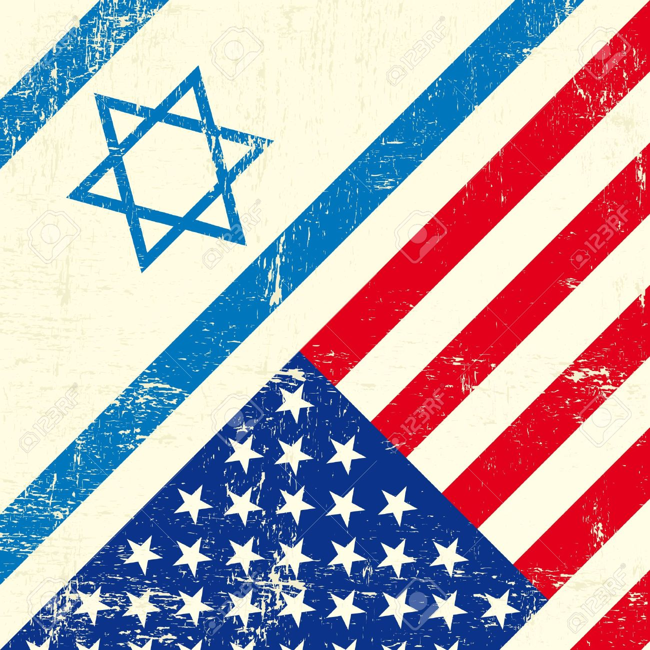 Mixed flag of Israel and the united states of America - 20007880