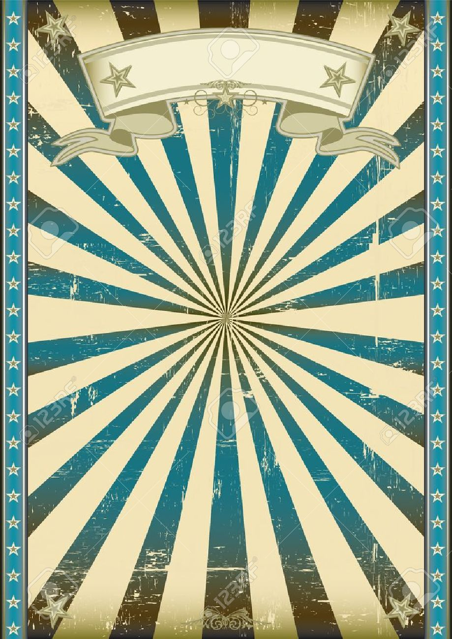 A vintage blue poster with a texture Stock Vector - 20007870