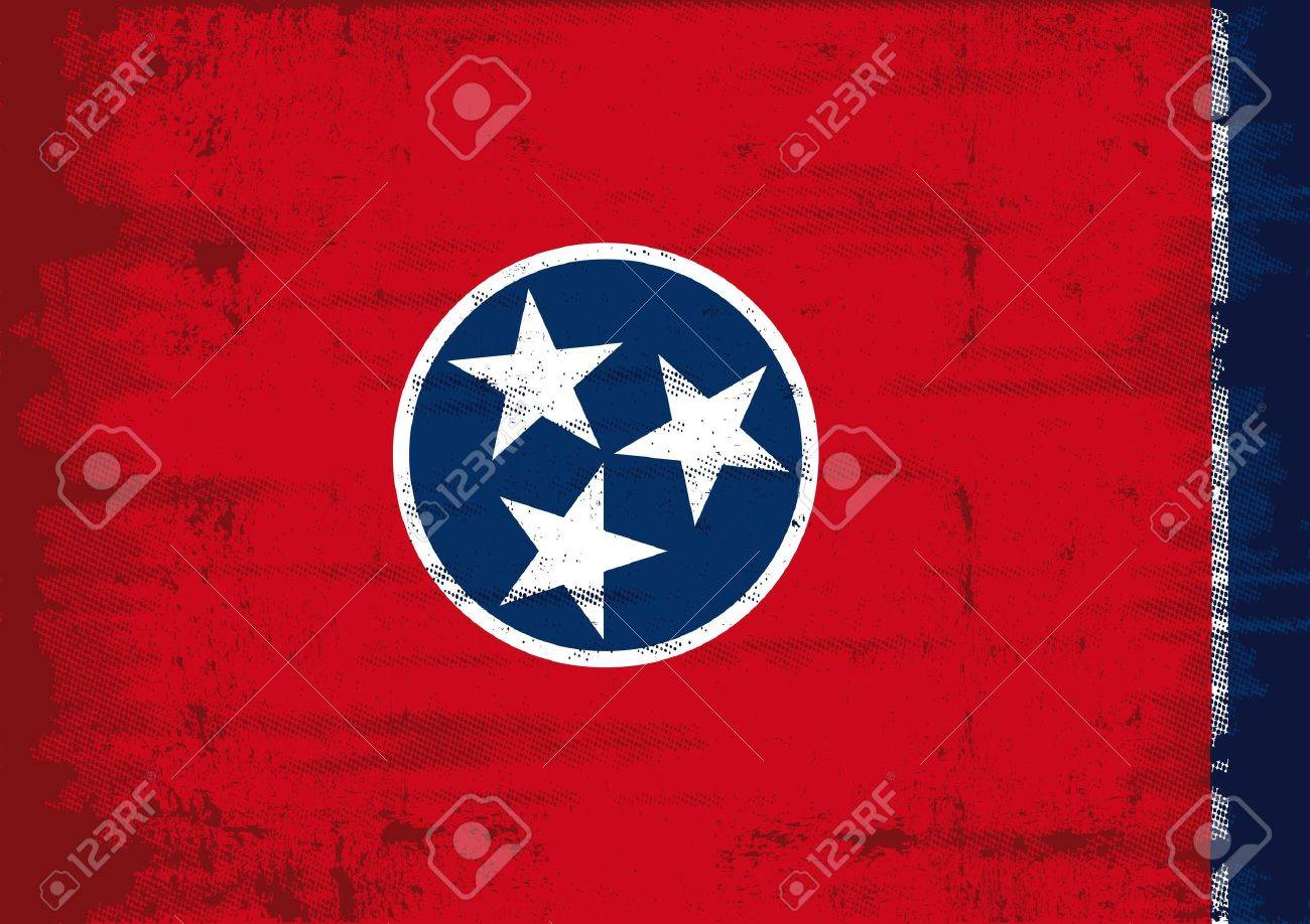 Tennessee flag with a texture Stock Vector - 20272395