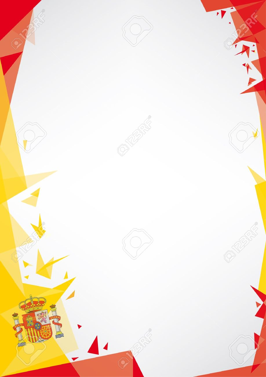 A Design Background Origami Style For Very Nice Spanish Poster Stock Vector