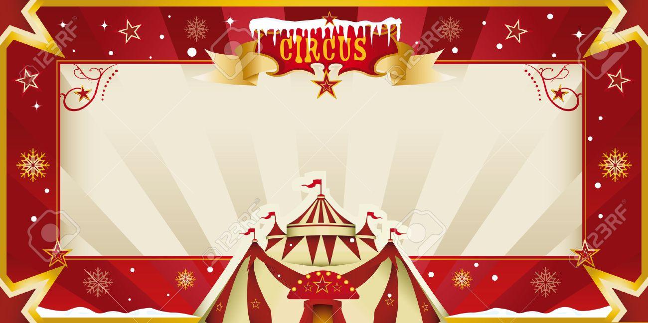 fantastische weihnachten zirkus einladung lizenzfrei nutzbare, Einladungen