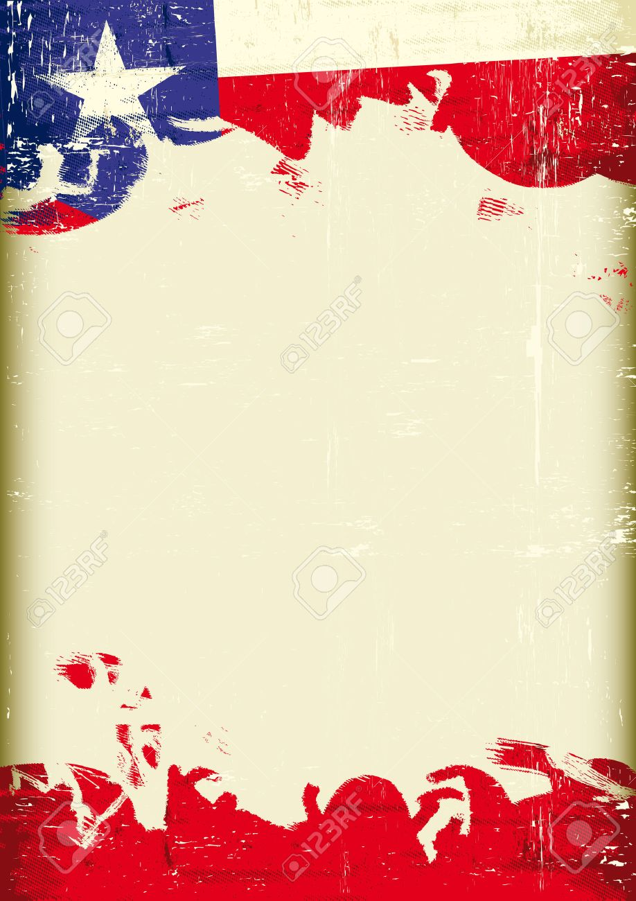 A Flag Of Texas With A Large Frame For Your Message Royalty Free ...