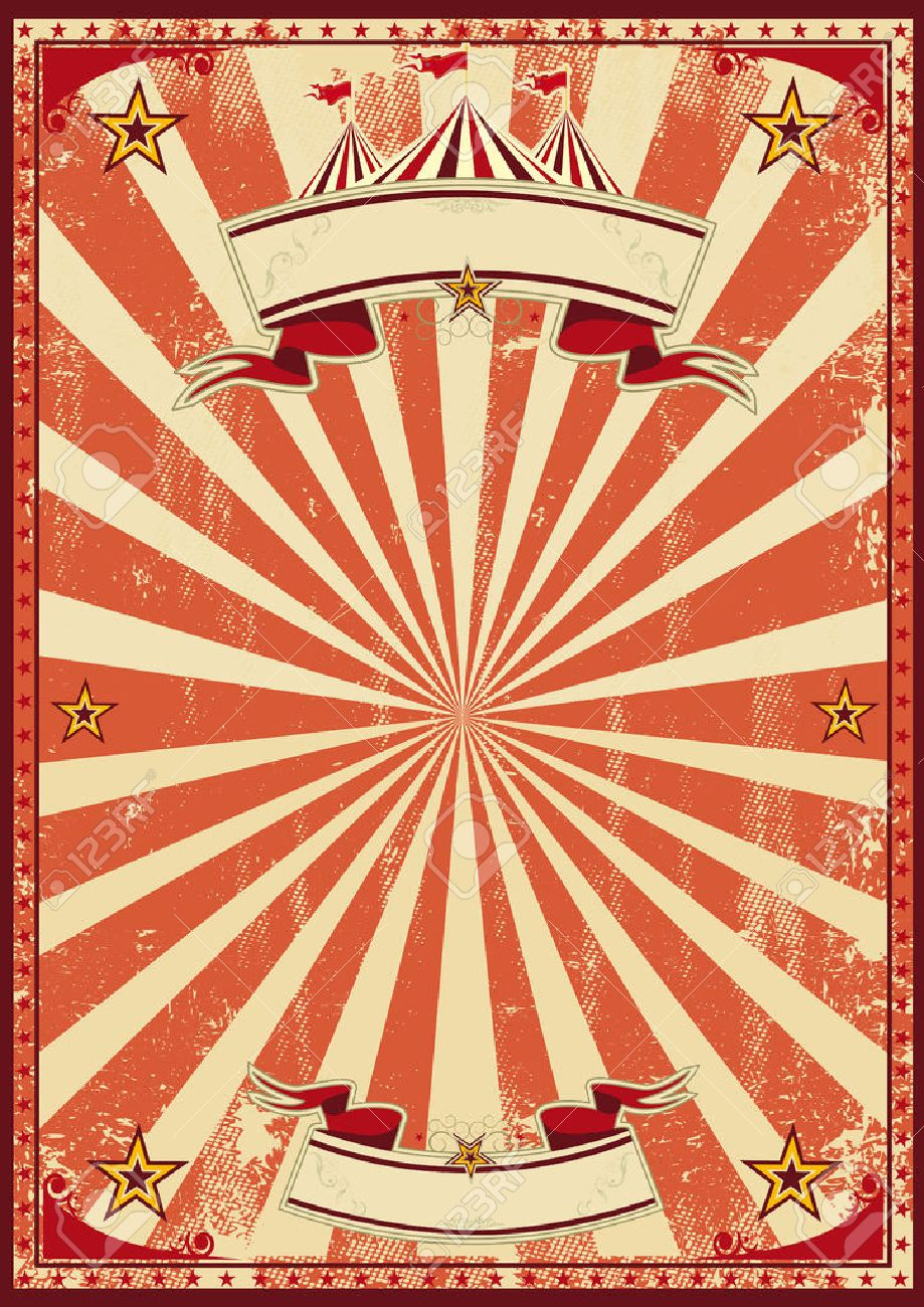 Vintage Circus Poster Background A red vintage circus