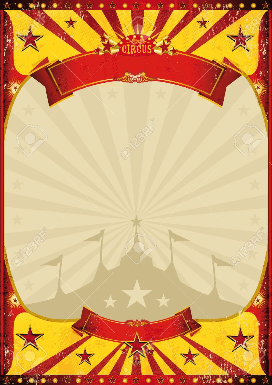 A circus vintage poster with a grunge texture Stock Vector - 25327812