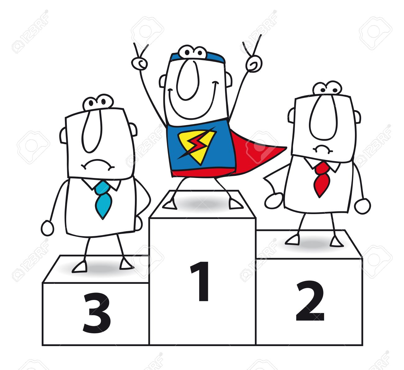 Number one  And the winner is Super businessman Stock Vector - 25867137