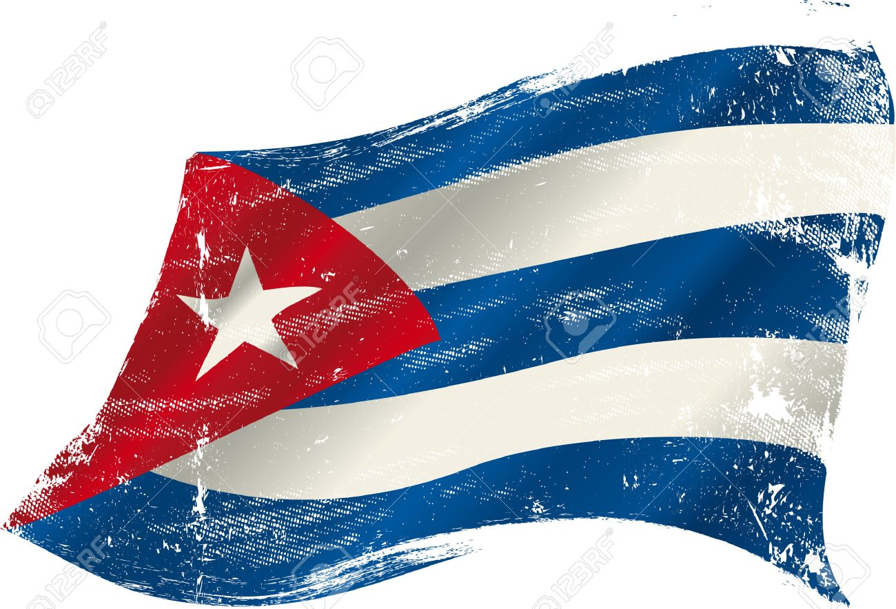 A Grunge Cuban Flag In The Wind For You Stock Vector   26622437