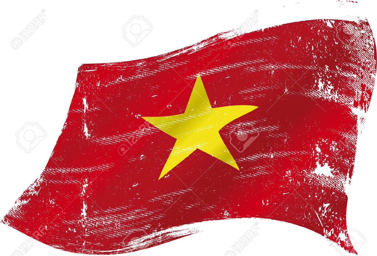 A grunge Vietnamese flag for you in the wind Stock Vector - 26783899