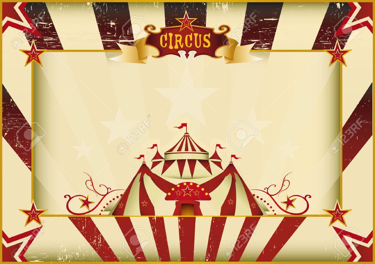 Un Cartel Del Vintage Del Circo Para Su Publicidad Tamaño Perfecto ...