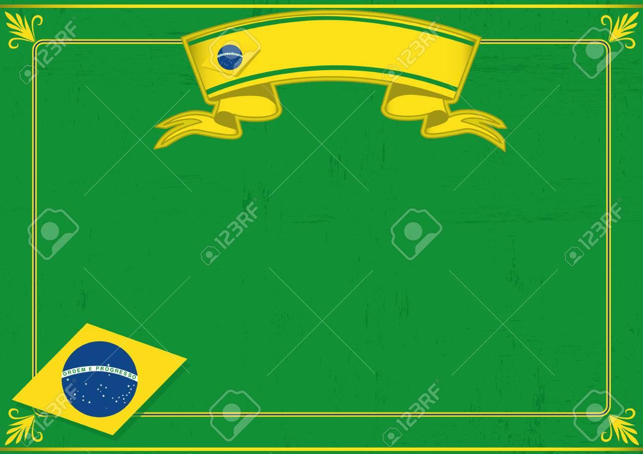 Un Tema Brasileño Certificado Con Un Gran Marco Sucio Para Su ...