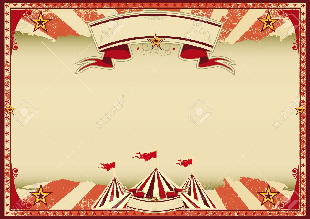 A red vintage circus background for a poster Stock Vector - 28525378