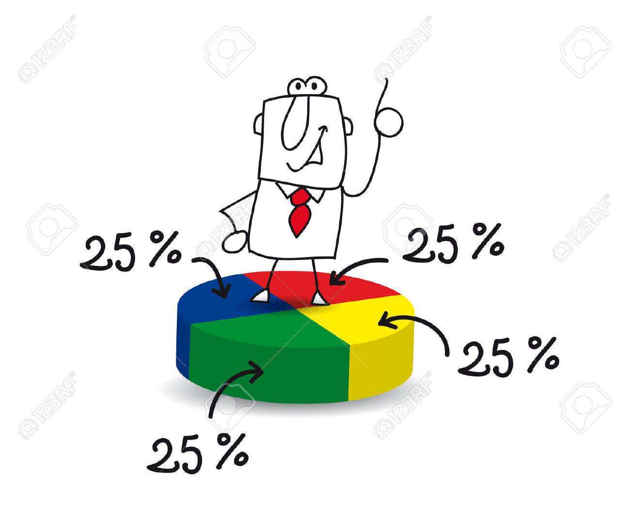 Joe, the businessman, is a statistician Stock Vector - 29653328