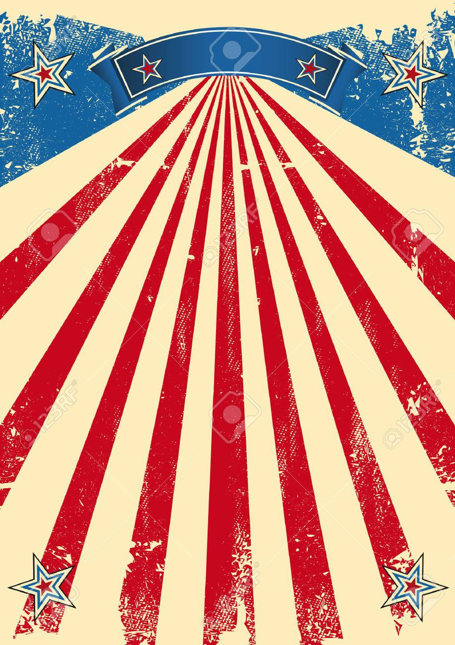 a vintage fifties background for a patriotic poster royalty free
