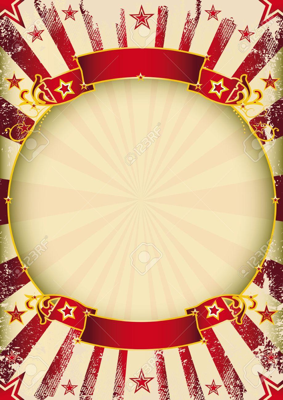 Ein Zirkus Weinleseplakat Mit Einem Kreis Rahmen Für Ihre Werbung ...