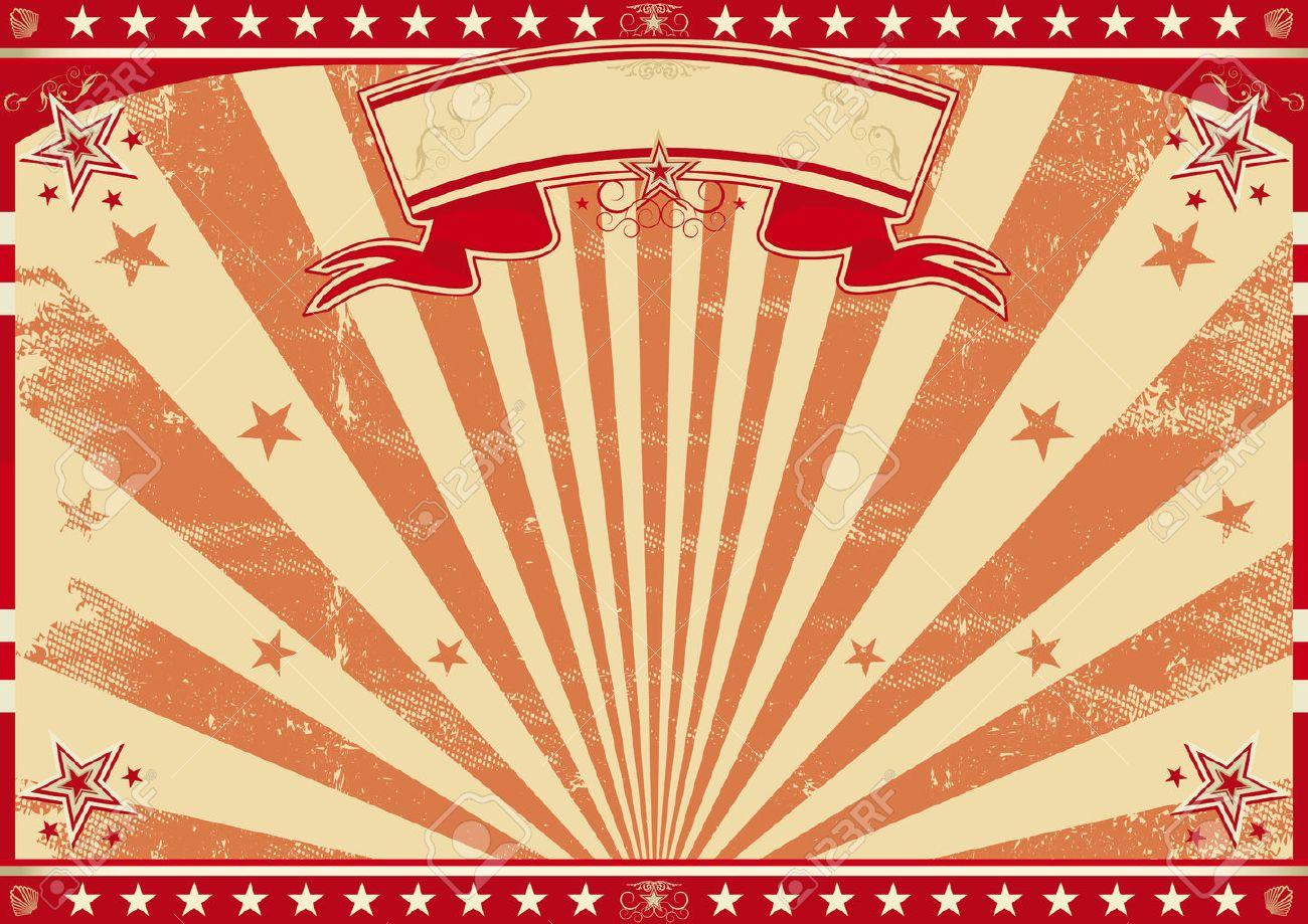 Un Cartel Del Vintage Del Circo Para Su Publicidad. Tamaño Perfecto ...