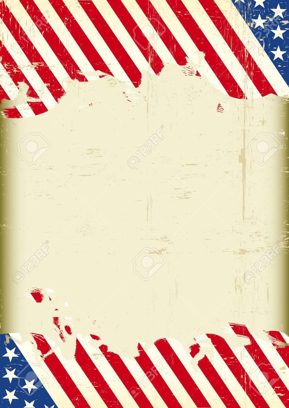 Ein Grunge Amerikanischen Hintergrund Mit Einem Großen Leeren Rahmen ...