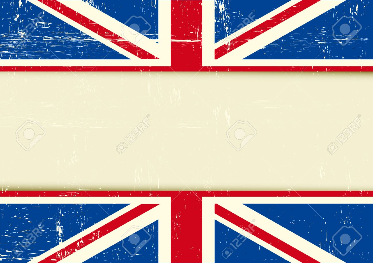 Horizontal Background With The Union Jack Flag And A Frame For ...
