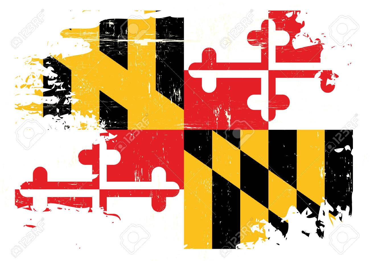 a flag of maryland with a grunge texture royalty free cliparts rh 123rf com Maryland Flag Black and White maryland flag vector free