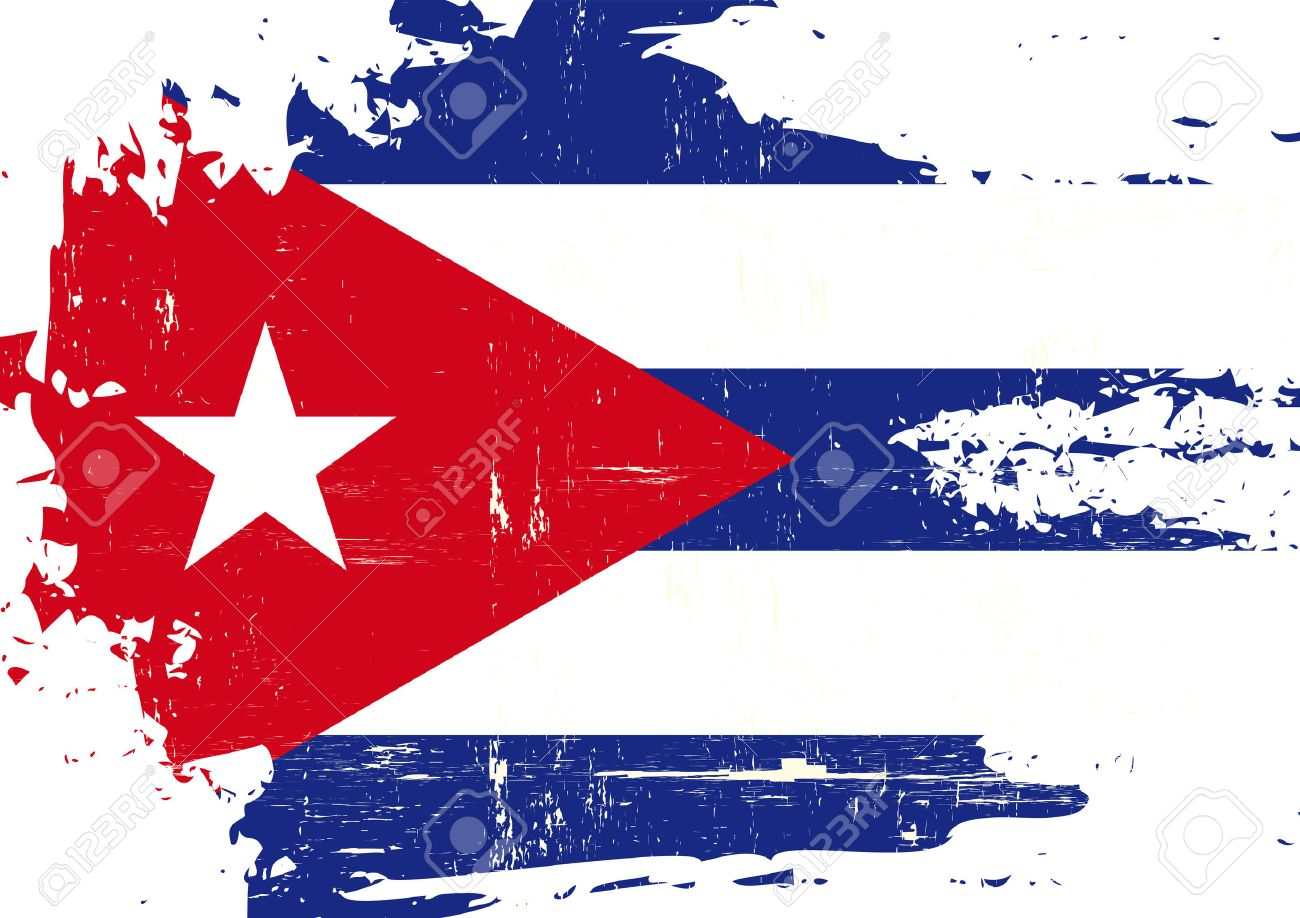 a cuban flag with a grunge texture royalty free cliparts vectors rh 123rf com Wearhered Cuban Flag Vector cuban flag free vector
