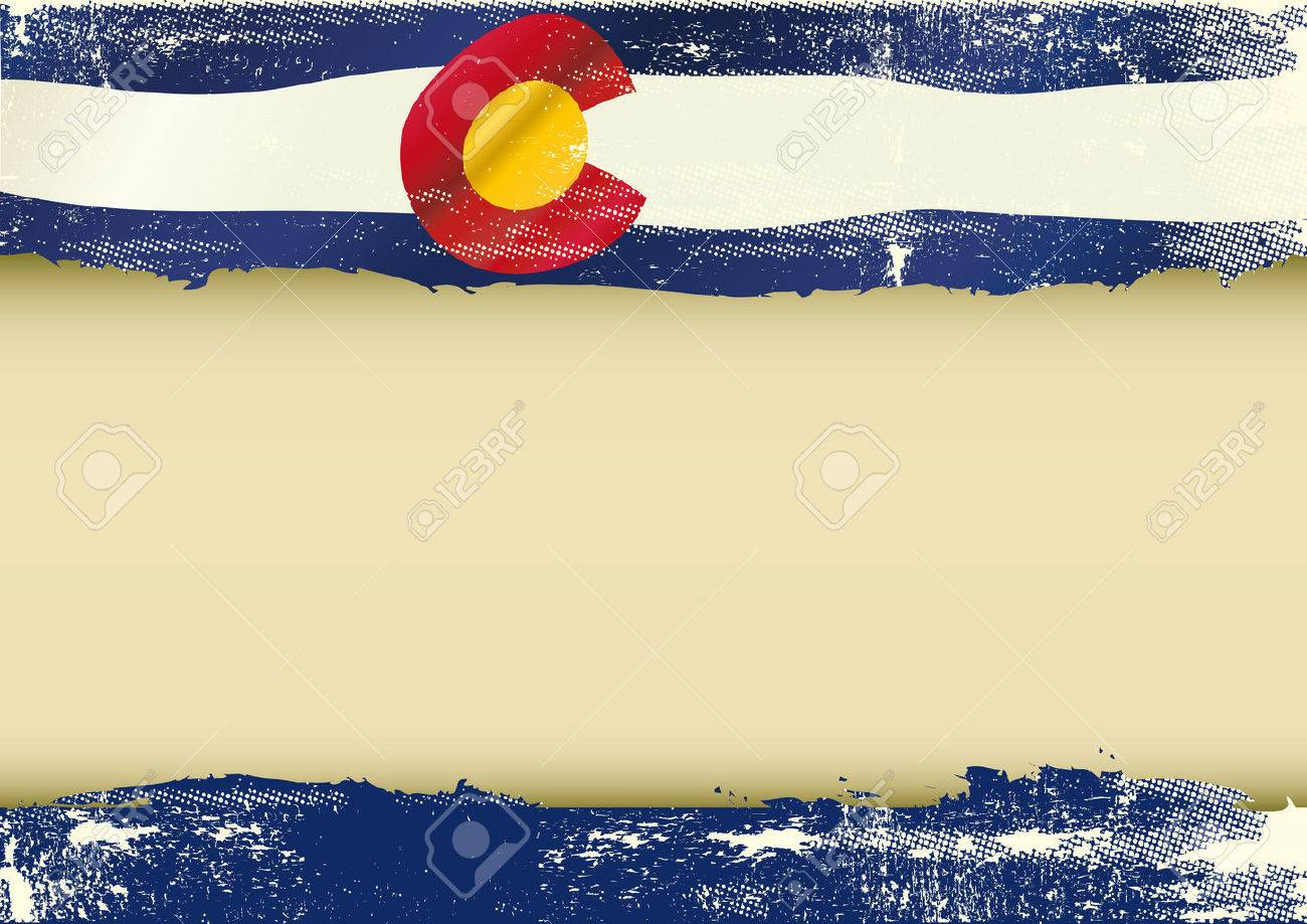 An Horizontal Background With A Scratched Flag Of Arizona And ...
