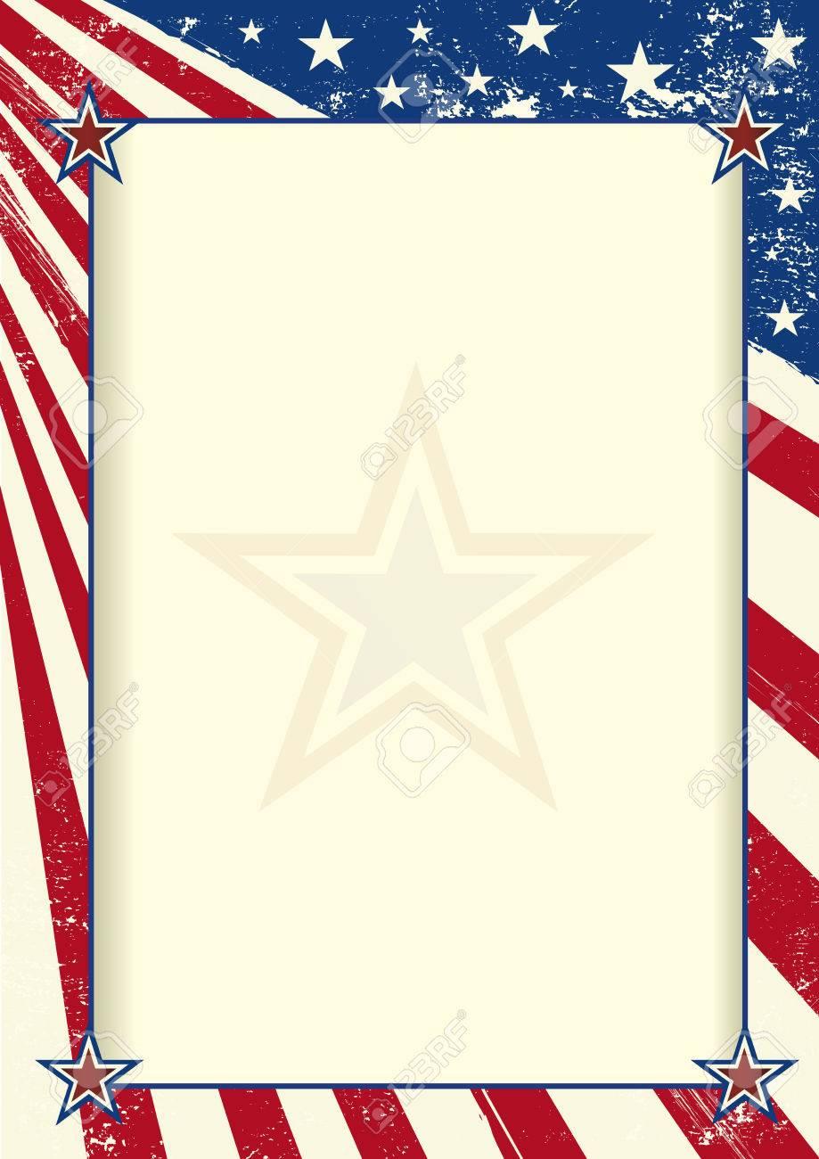 Eine Amerikanische Flagge Mit Einem Großen Rahmen Für Ihre Nachricht ...