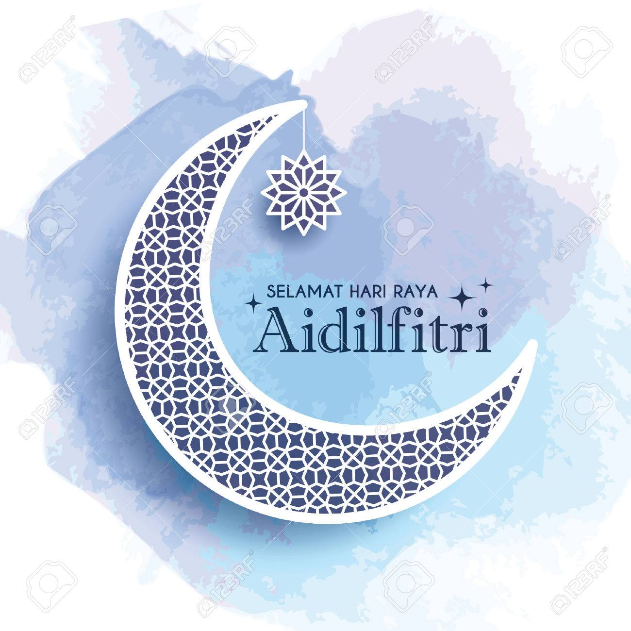 Hari Raya Aidilfitri Greeting Card Template Design Decorative Royalty Free Cliparts Vectors And Stock Illustration Image 80103588