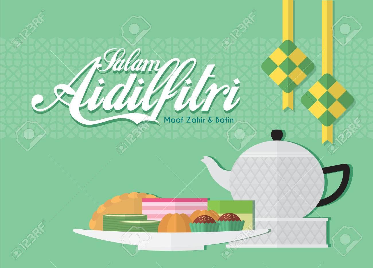 Raya greetings with ketupat rice dumpling kuih muih malay raya greetings with ketupat rice dumpling kuih muih malay pastry kristyandbryce Images