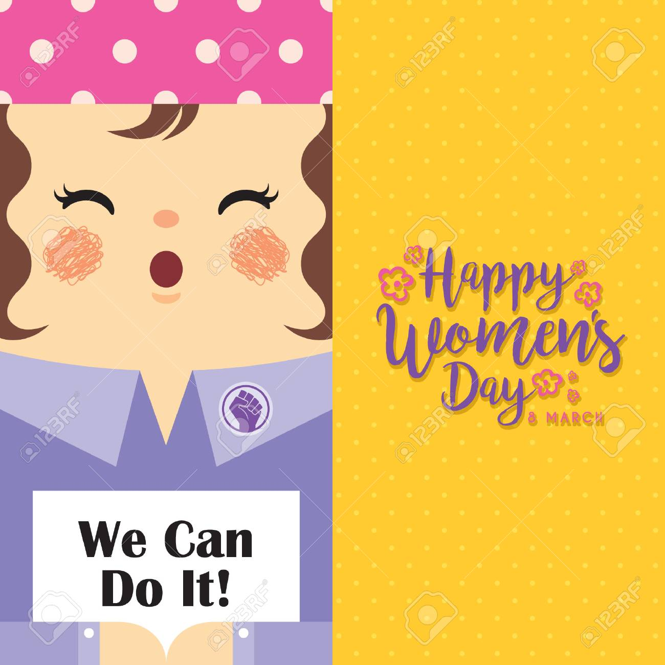 International Women's Day - 8 march template design or copy space