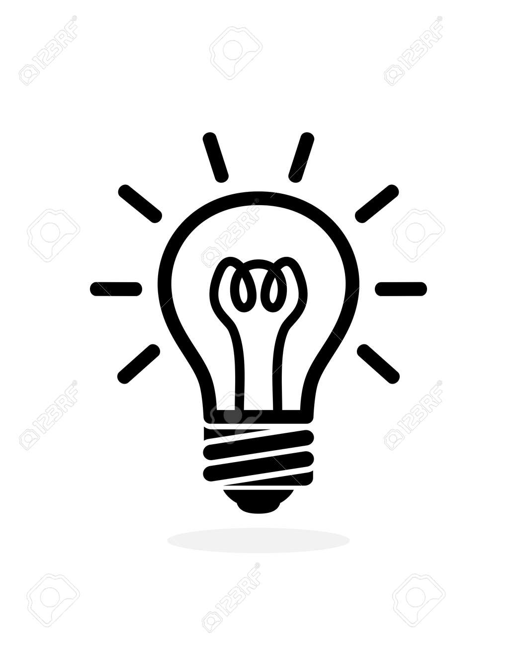 light bulb outline icon. Vector logo bulb isolated on white background - 169568148