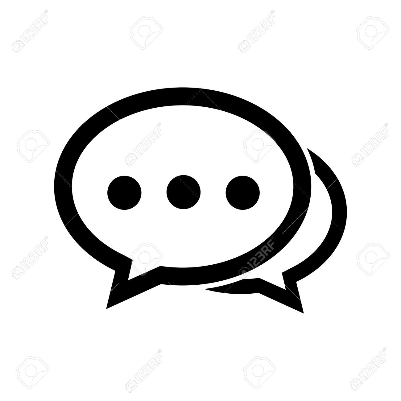 Chat icon in flat line style isolated on white background. Speech bubble symbol for your website design, app, UI. Vector illustration. Vector illustration. - 169574265