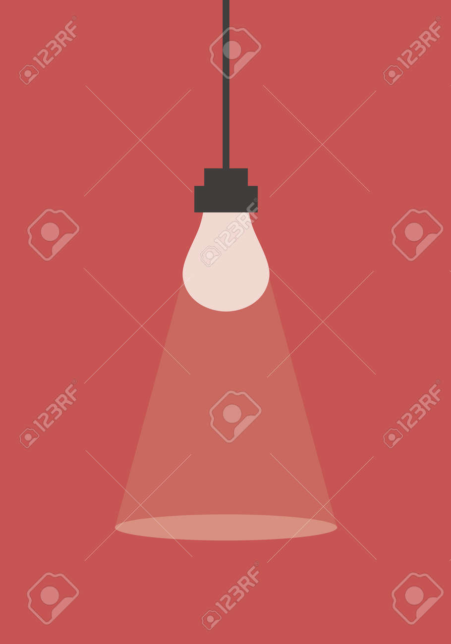 Flat design light bulb. Vector illustration background for posters, banners, web, social media, cards, covers, ui. - 169704932