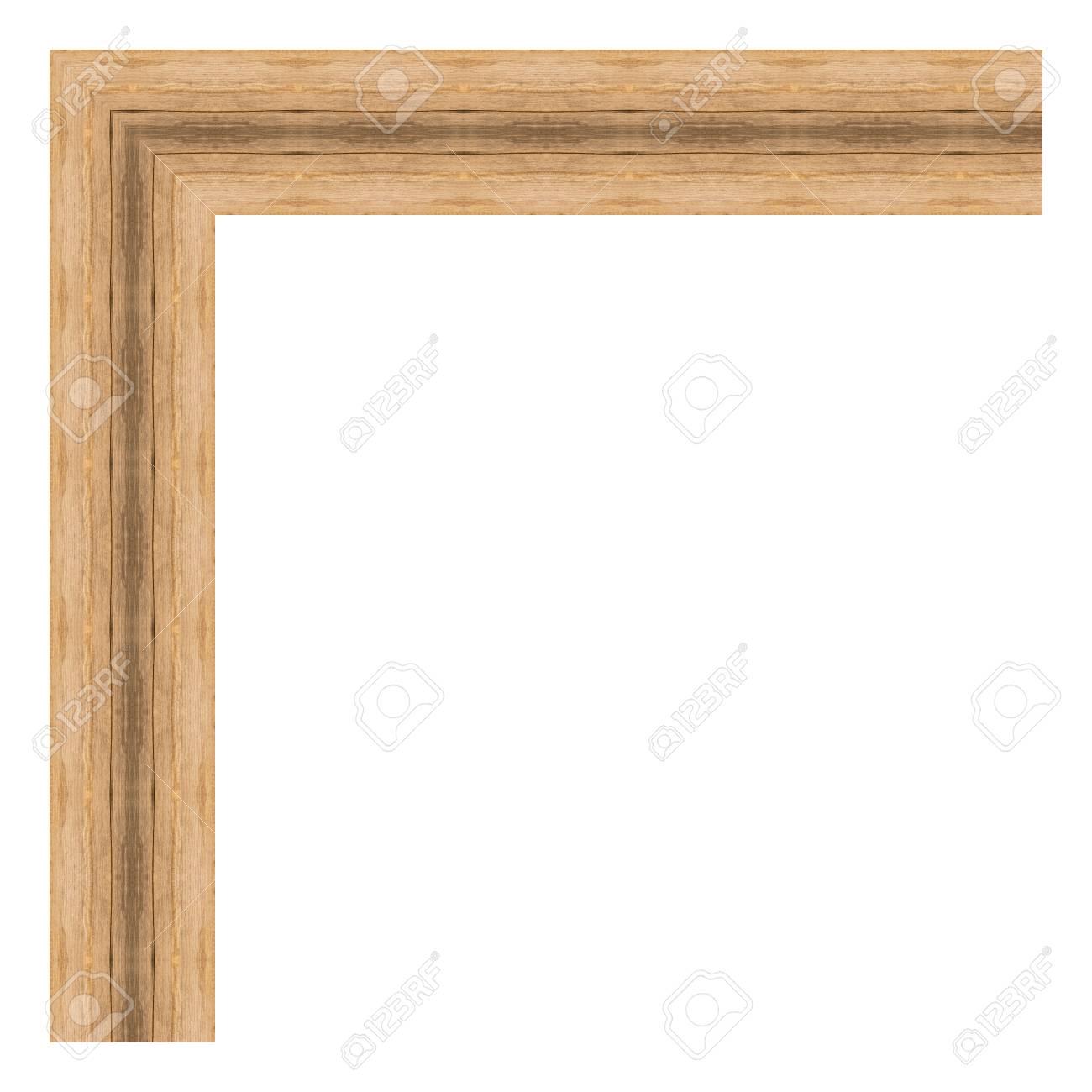 Brown Holzrahmen Isoliert Auf Weißem Hintergrund. Moderne ...
