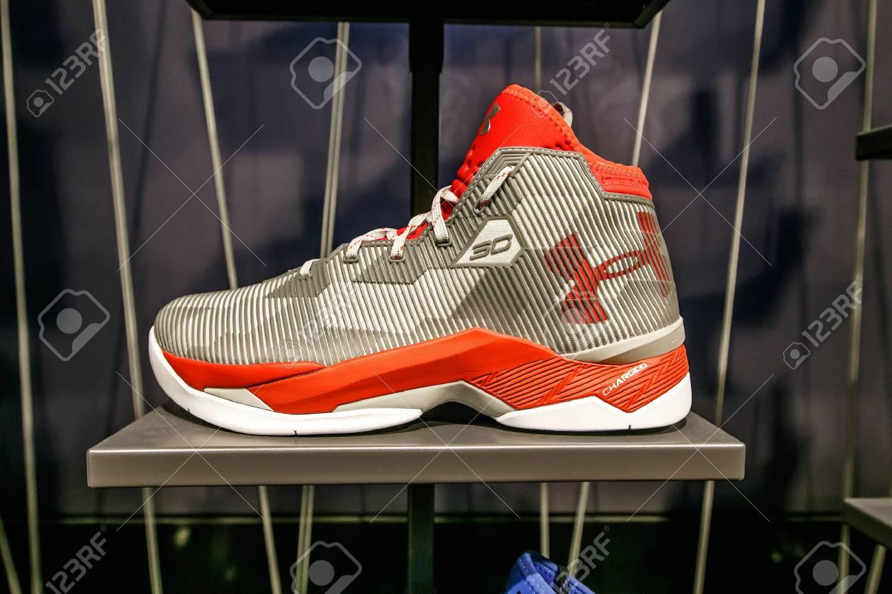 An Under Armour Basketball Shoe.. Stock