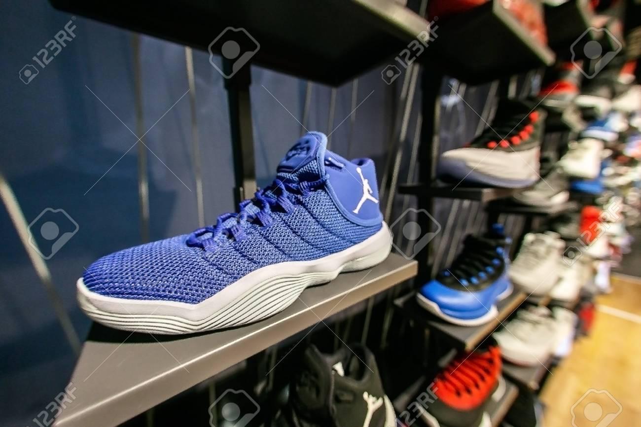 Air Jordan Sneakers.. Stock Photo