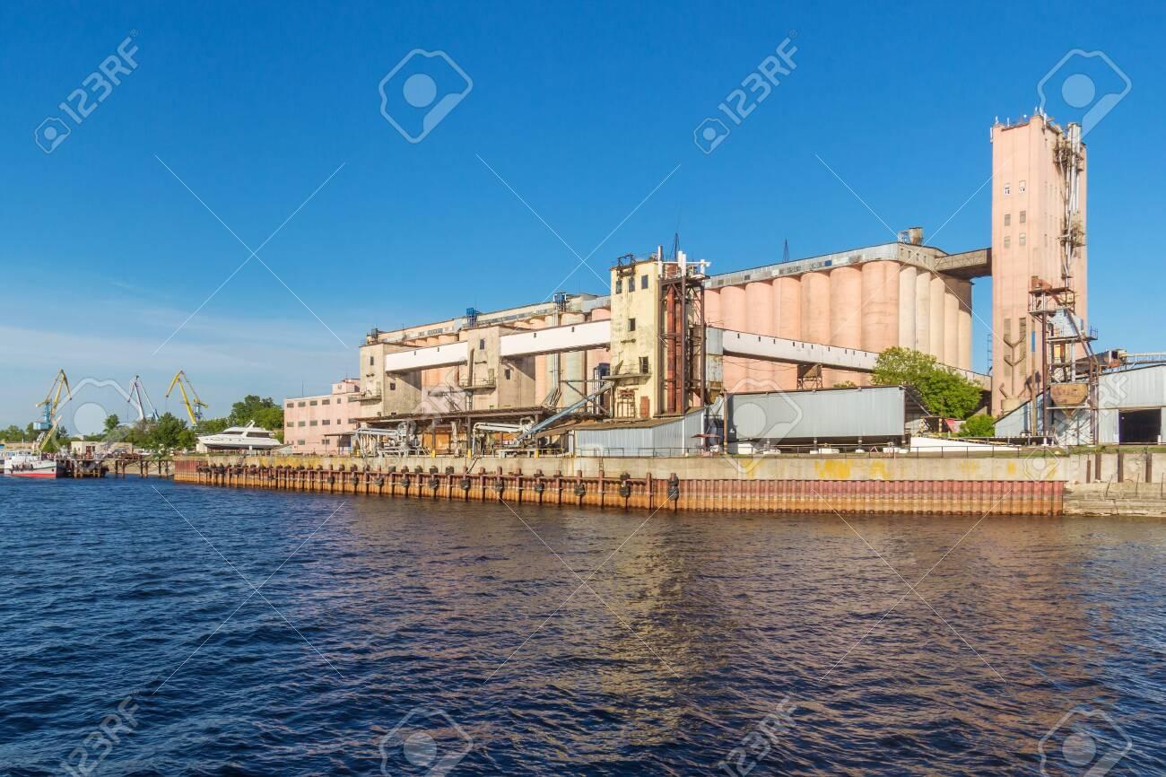 Kazan city, Republic of Tatarstan/Russia - may 25 2019: Industrial enterprise on the river bank - 142402790