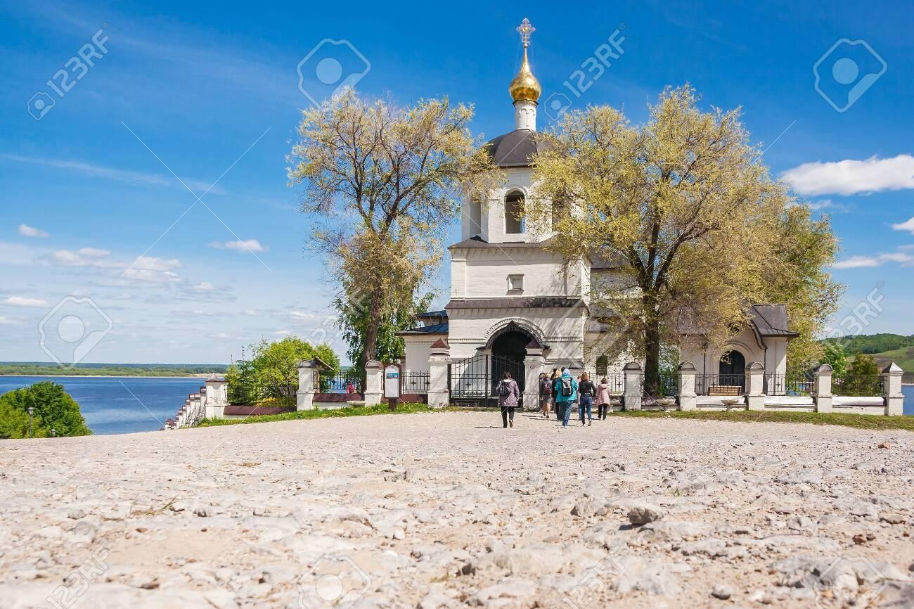Sviyazhsk village, Republic of Tatarstan/Russia - may 25 2019: Church of Helena and Constantine at summer - 142402797