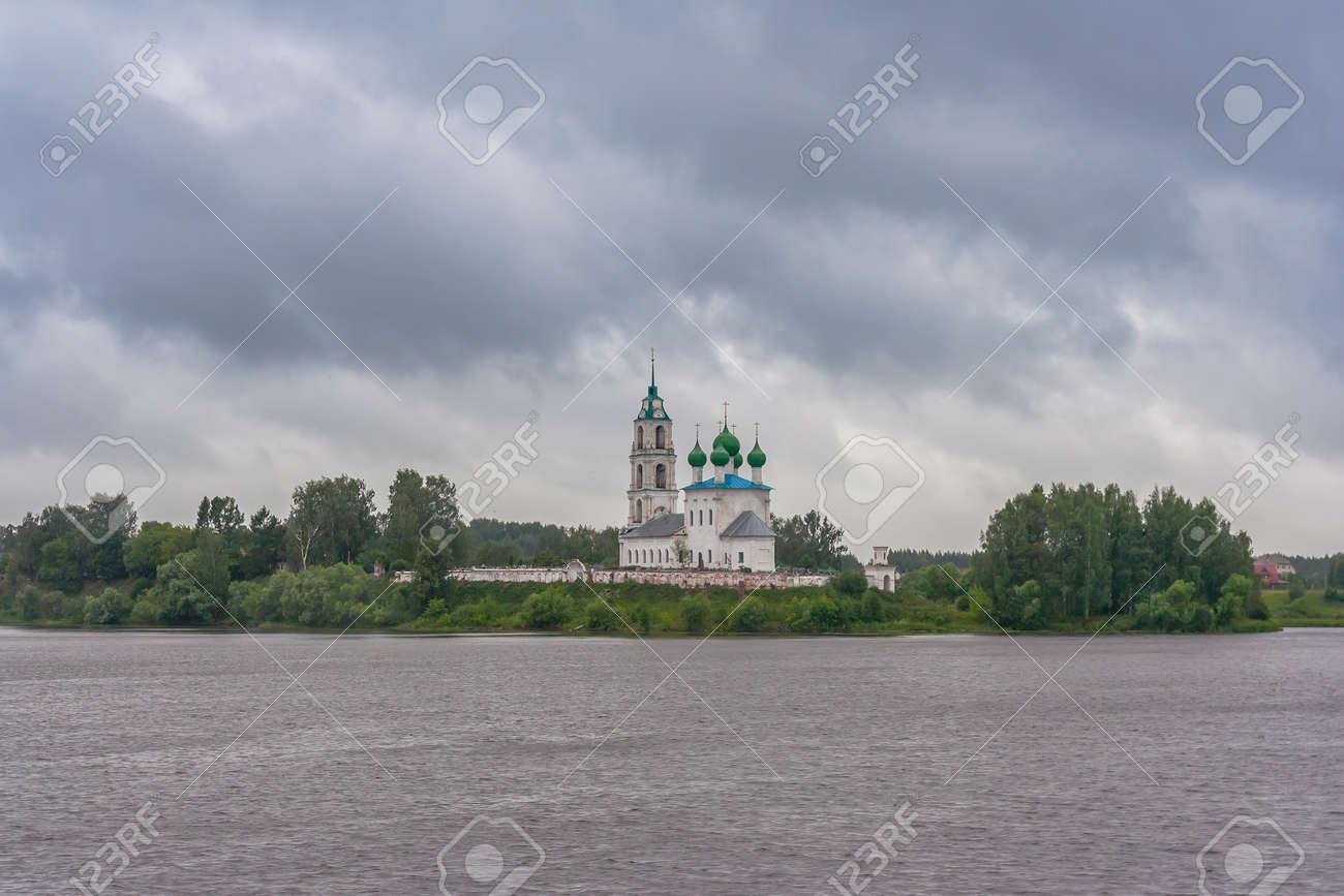 Trinity Church on the banks of the Volga in the Yaroslavl region in Russia - 144347347