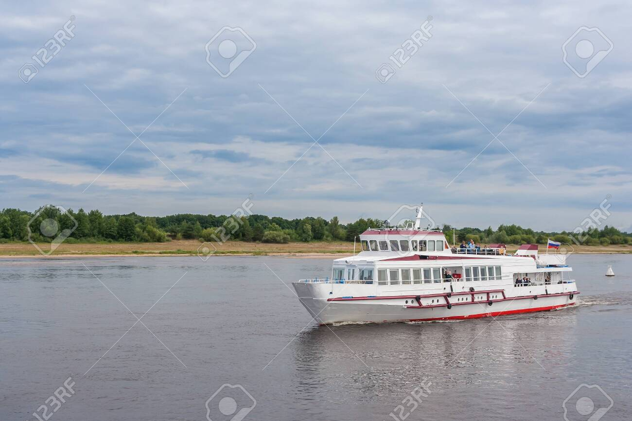 Boat trip on the river in the summer - 144610349