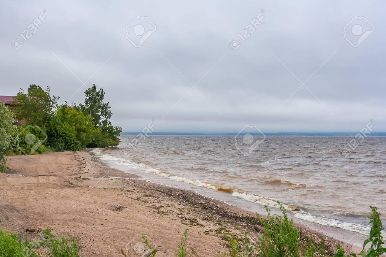 Storm offshore on the Gorky reservoir in the Nizhny Novgorod region, Russia - 146111647