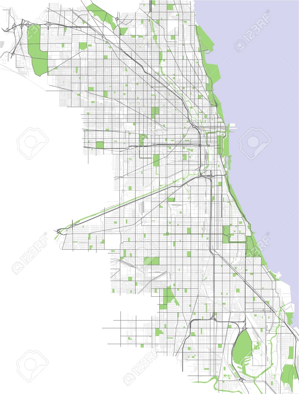 Map of the city of Chicago, USA Chicago Map In Usa on puerto rico in chicago, money in chicago, bike in chicago, ball in chicago, weather in chicago, usa map in miami, statue of liberty in chicago, animals in chicago, butterflies in chicago, transportation in chicago, nebraska in chicago, home in chicago, turkey in chicago, zip code map in chicago,